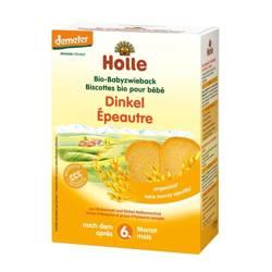 Delikatne Sucharki Orkiszowe Pełnoziarniste 6m+ Bio Holle