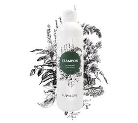 Ziołowy szampon oczyszczający na porost włosów Lullalove