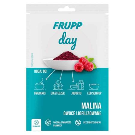 Frupp DAY Malina liofilizowana grysik bez glutenu 10g