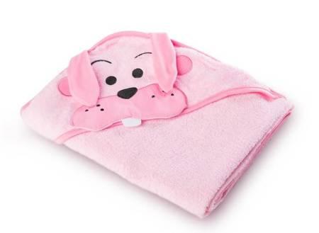 Okrycie Kąpielowe Z Kapturem 100×100cm Królik Pink Sensillo