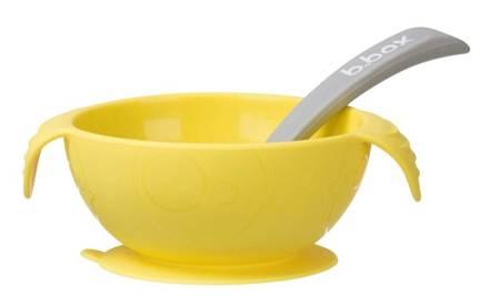 Silikonowa miseczka przyssawką Lemon Sherbet b.box
